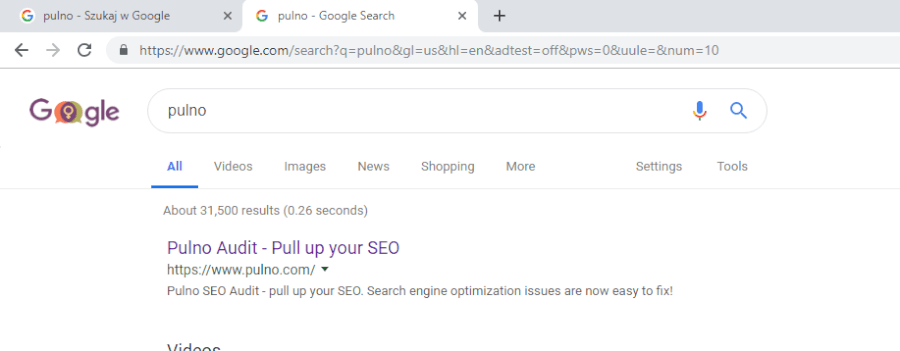 search results for Pulno in English