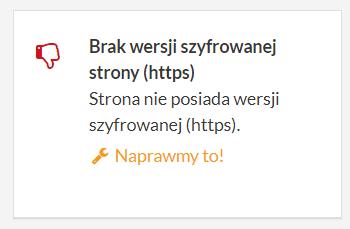 brak wersji szyfrowanej strony