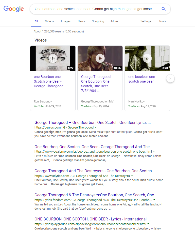 searching specific phrase in Google with many results