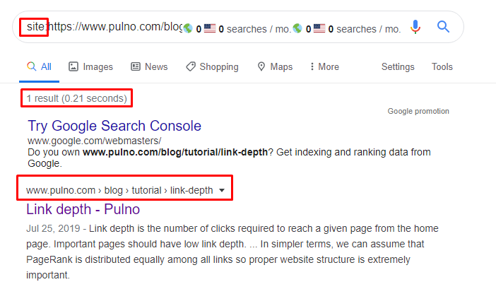 checking page indexing