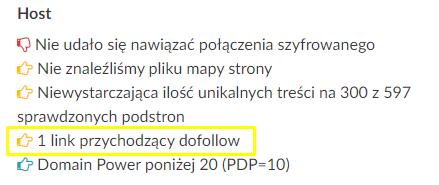 jeden link dofollow