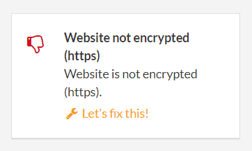 information about not encrypted website