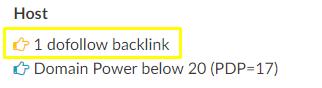 one dofollow backlink