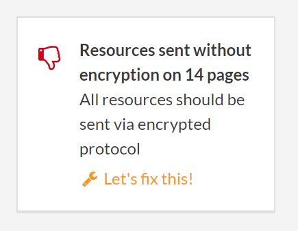 resources without encryption