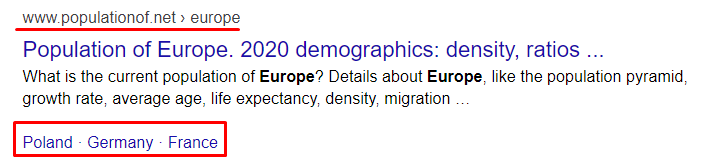 search results for Europe demographics query