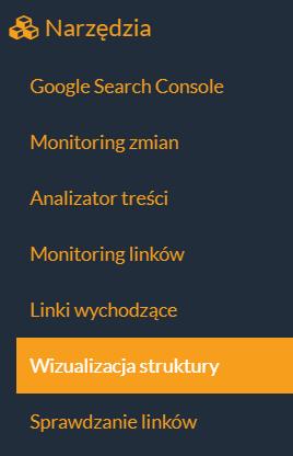 wizualizacja struktury dostępna w narzędziach